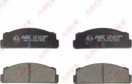 ABE C2F007ABE - Тормозные колодки, дисковые mavto.com.ua