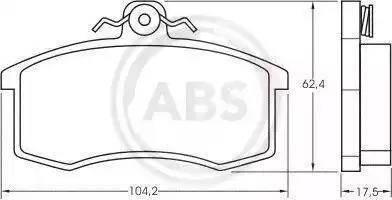 A.B.S. 36576 - Тормозные колодки, дисковые mavto.com.ua