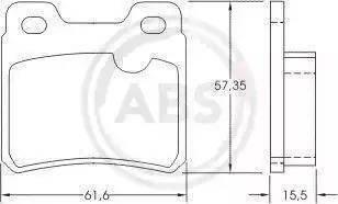 A.B.S. 36694 - Тормозные колодки, дисковые mavto.com.ua