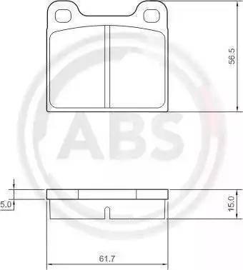 A.B.S. 36009 - Тормозные колодки, дисковые mavto.com.ua
