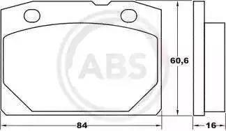 A.B.S. 36080 - Тормозные колодки, дисковые mavto.com.ua
