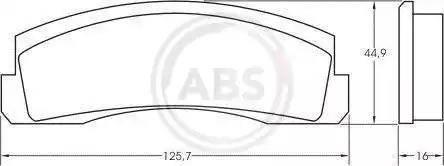 A.B.S. 36136 - Тормозные колодки, дисковые mavto.com.ua