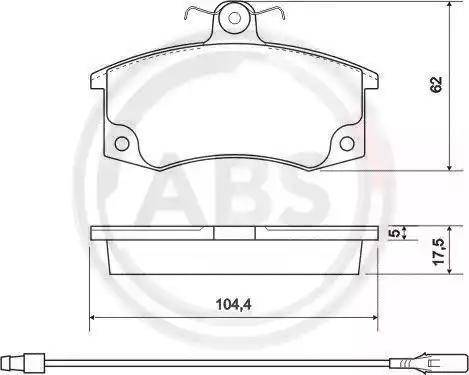A.B.S. 37079 - Тормозные колодки, дисковые mavto.com.ua