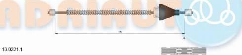 Adriauto 13.0221.1 - Трос, стояночная тормозная система mavto.com.ua