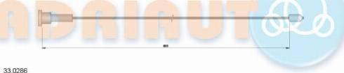 Adriauto 33.0286 - Трос, стояночная тормозная система mavto.com.ua