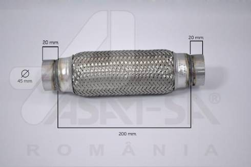 ASAM 60093 - Гофрированная труба, выхлопная система mavto.com.ua