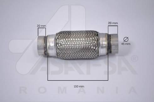 ASAM 60092 - Гофрированная труба, выхлопная система mavto.com.ua