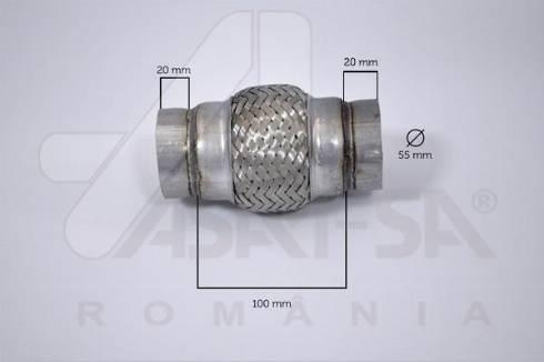 ASAM 62066 - Гофрированная труба, выхлопная система mavto.com.ua