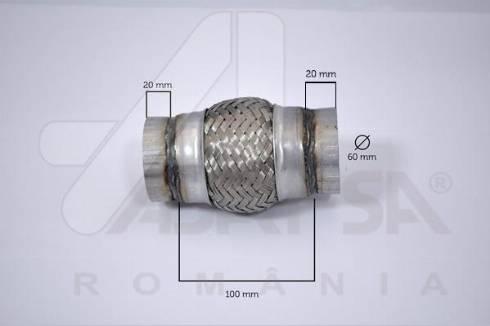 ASAM 62067 - Гофрированная труба, выхлопная система mavto.com.ua
