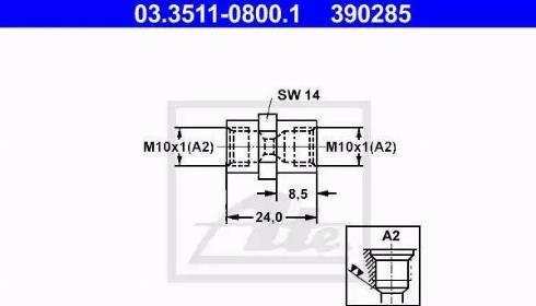 ATE 03.3511-0800.1 - Адаптер, трубопровод тормозного привода mavto.com.ua