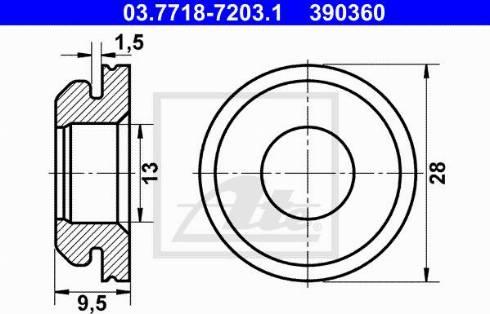 ATE 03.7718-7203.1 - Прокладка, вакуумный соединитель BKV mavto.com.ua