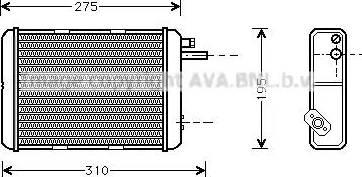 Ava Quality Cooling IV 6018 - Теплообменник, отопление салона mavto.com.ua