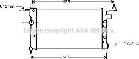 Ava Quality Cooling OLA 2183 - Радиатор, охлаждение двигателя mavto.com.ua