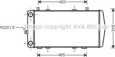 Ava Quality Cooling SA 2004 - Радиатор, охлаждение двигателя mavto.com.ua