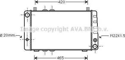 Ava Quality Cooling SA2002 - Радиатор, охлаждение двигателя mavto.com.ua