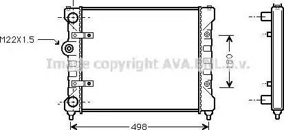 Ava Quality Cooling ST 2022 - Радиатор, охлаждение двигателя mavto.com.ua