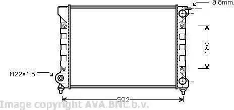 Ava Quality Cooling VWA 2045 - Радиатор, охлаждение двигателя mavto.com.ua