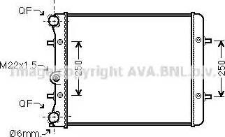 Ava Quality Cooling VW 2152 - Радиатор, охлаждение двигателя mavto.com.ua