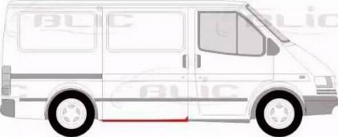 BLIC 6505-06-2515002P - Подножка, накладка порога mavto.com.ua