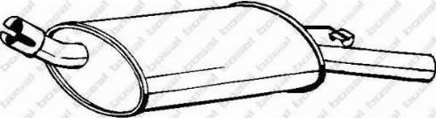 Bosal 185-161 - Глушитель выхлопных газов конечный mavto.com.ua