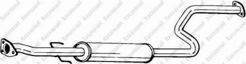 Bosal 283-233 - Средний глушитель выхлопных газов mavto.com.ua