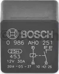 BOSCH 0986AH0251 - Реле, вентилятор радиатора mavto.com.ua