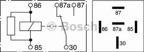 BOSCH 0 332 209 206 - Реле, ABS mavto.com.ua