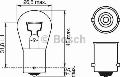BOSCH 1 987 302 501 - Лампа накаливания, фонарь сигнала тормоза mavto.com.ua