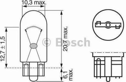 BOSCH 1 987 302 206 - Лампа, лампа чтения mavto.com.ua