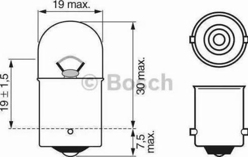 BOSCH 1987302284 - Лампа накаливания, стояночные огни / габаритные фонари mavto.com.ua