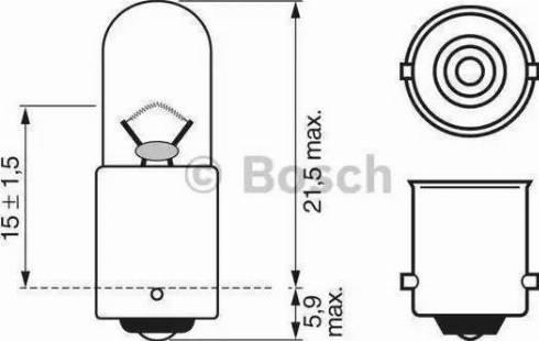 BOSCH 1987302207 - Лампа накаливания, стояночные огни / габаритные фонари mavto.com.ua
