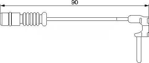 Bremsi WI0501 - Сигнализатор, износ тормозных колодок mavto.com.ua