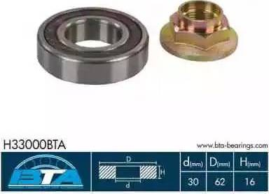 BTA H33000BTA - Подшипник, приводной вал mavto.com.ua