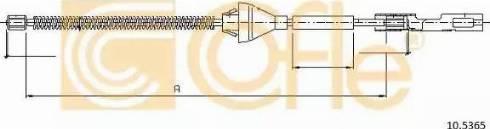 Cofle 10.5365 - Трос, стояночная тормозная система mavto.com.ua