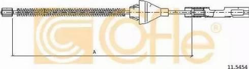 Cofle 11.5454 - Трос, стояночная тормозная система mavto.com.ua