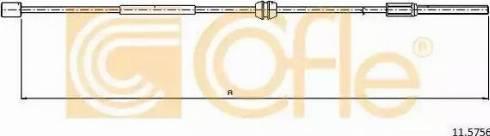 Cofle 11.5756 - Трос, стояночная тормозная система mavto.com.ua