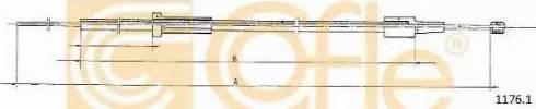 Cofle 1176.1 - Тросик замка капота mavto.com.ua