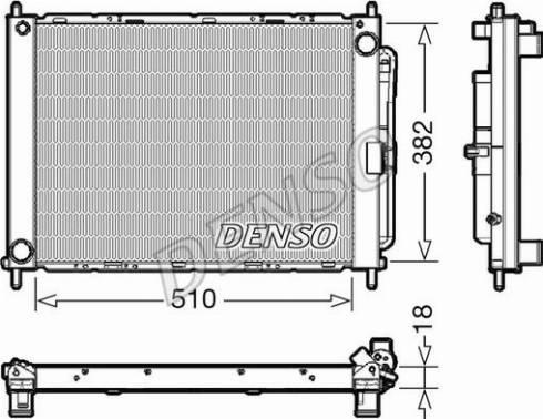 Denso DRM23111 - Модуль охлаждения mavto.com.ua