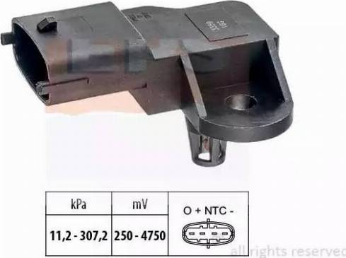 EPS 1.993.359 - Датчик, давление выхлопных газов mavto.com.ua