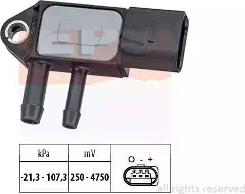 EPS 1.993.265 - Датчик, давление выхлопных газов mavto.com.ua