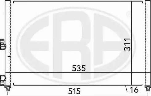 ERA 667024 - Конденсатор, кондиционер mavto.com.ua