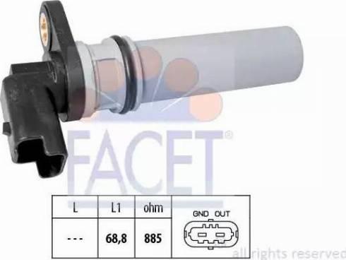 FACET 9.0537 - Датчик частоты вращения, автоматическая коробка передач mavto.com.ua