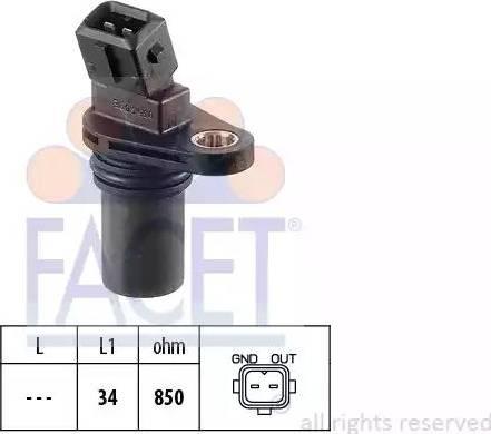 FACET 9.0354 - Датчик частоты вращения, автоматическая коробка передач mavto.com.ua