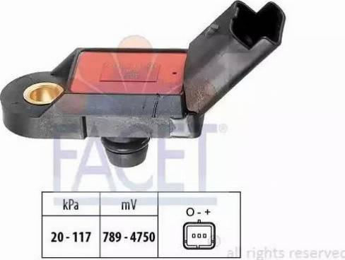 FACET 10.3056 - Датчик давления, усилитель тормозной системы mavto.com.ua