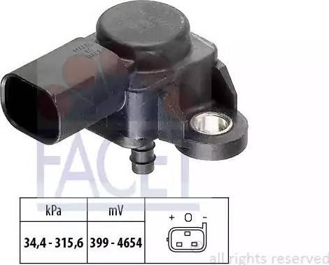 FACET 10.3165 - Датчик, давление выхлопных газов mavto.com.ua