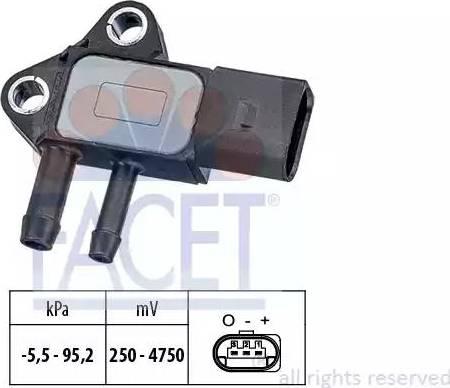 FACET 10.3297 - Датчик, давление выхлопных газов mavto.com.ua