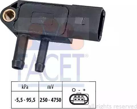 FACET 10.3264 - Датчик, давление выхлопных газов mavto.com.ua