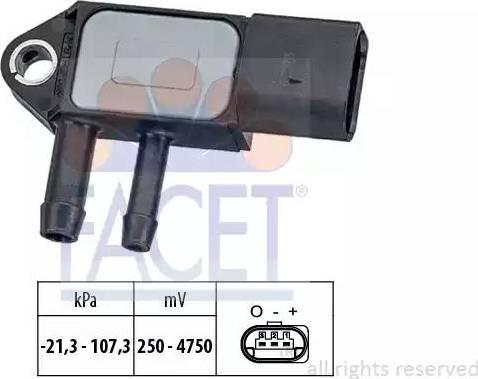 FACET 10.3265 - Датчик, давление выхлопных газов mavto.com.ua