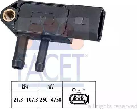 FACET 10.3266 - Датчик, давление выхлопных газов mavto.com.ua