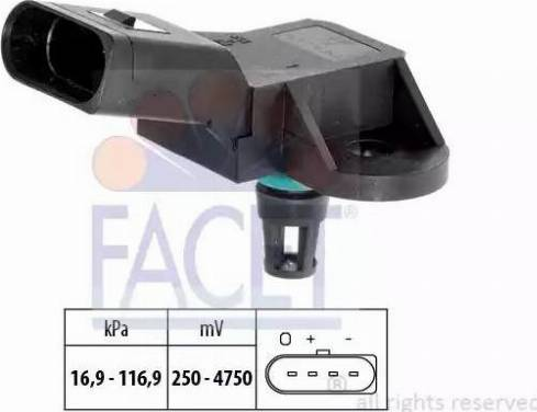 FACET 10.3226 - Датчик давления, усилитель тормозной системы mavto.com.ua